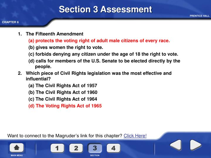 Section 3 Assessment