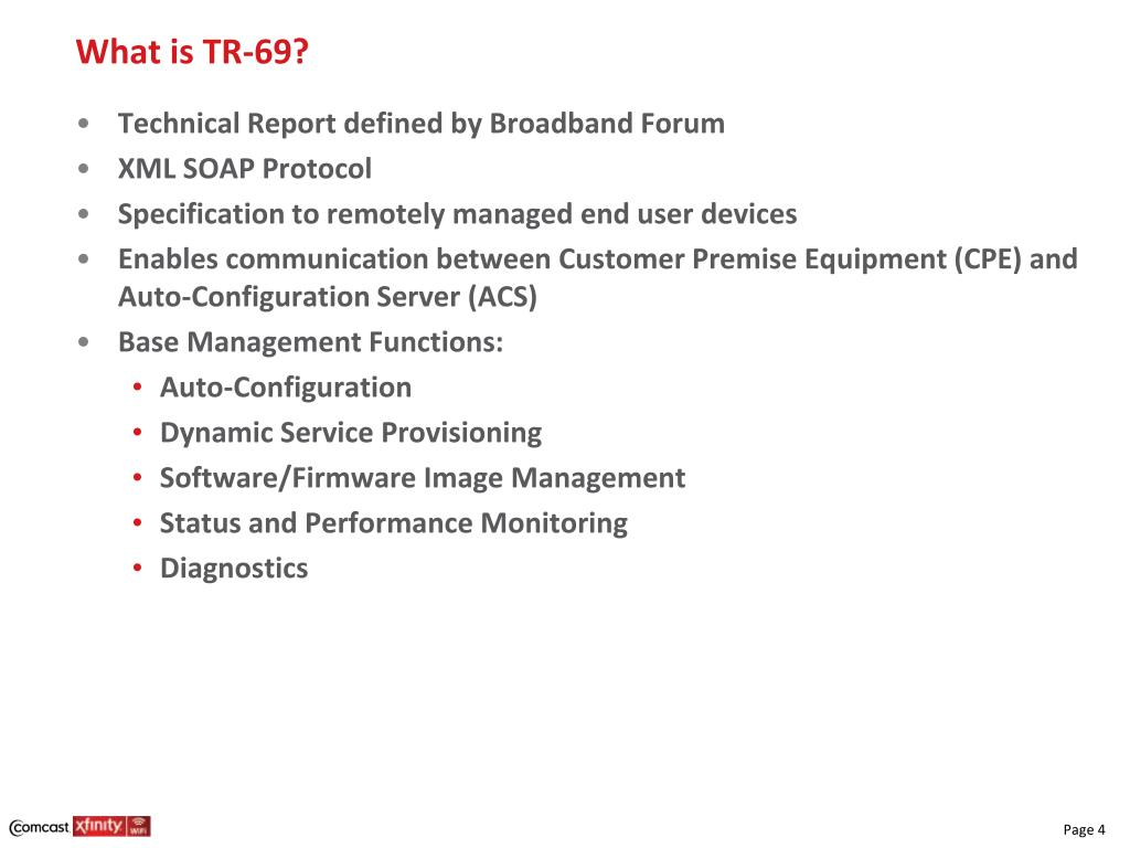 PPT - TR-69 Overview Ivan Ong Comcast Technology + Product