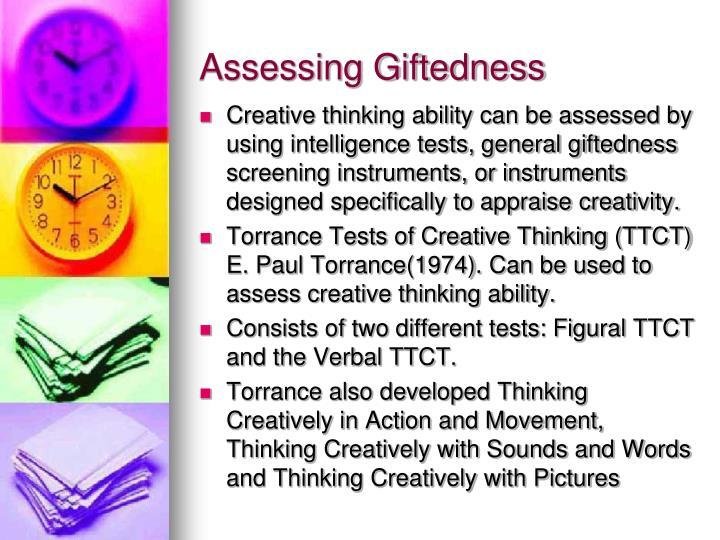 Assessing Giftedness