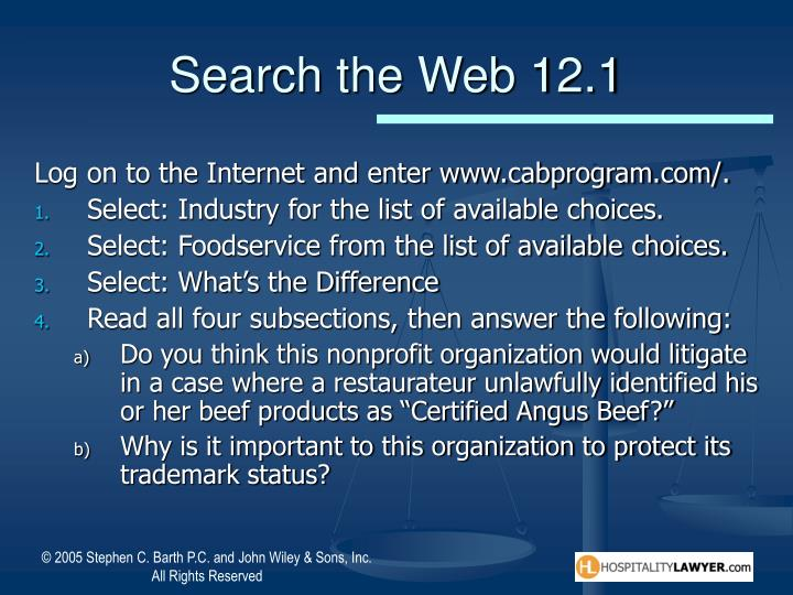 Search the Web 12.1