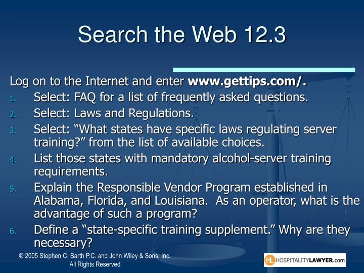 Search the Web 12.3