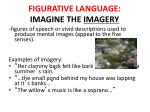 figurative language imagine the imagery
