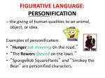 figurative language person ification