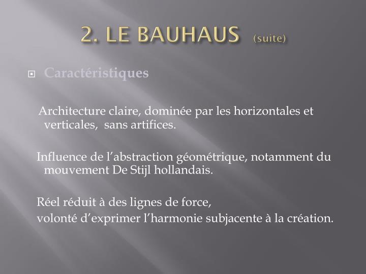 2. LE BAUHAUS