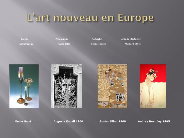 L'art nouveau en Europe