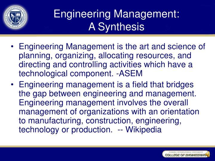 Engineering Management: