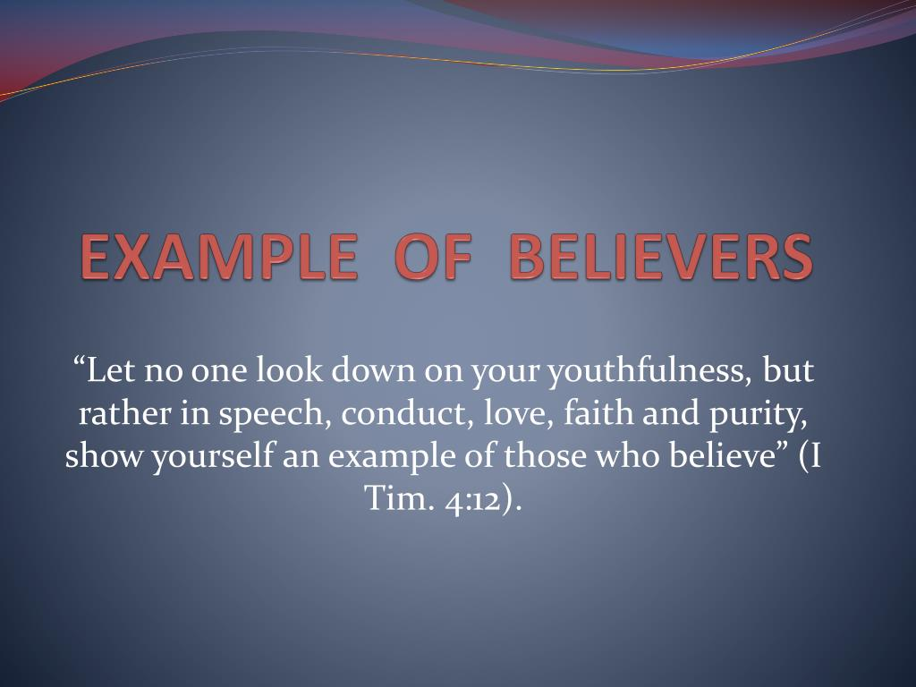 speech on faith in yourself