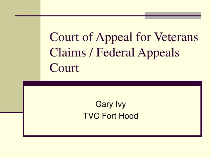 court of appeal for veterans claims federal appeals court n.