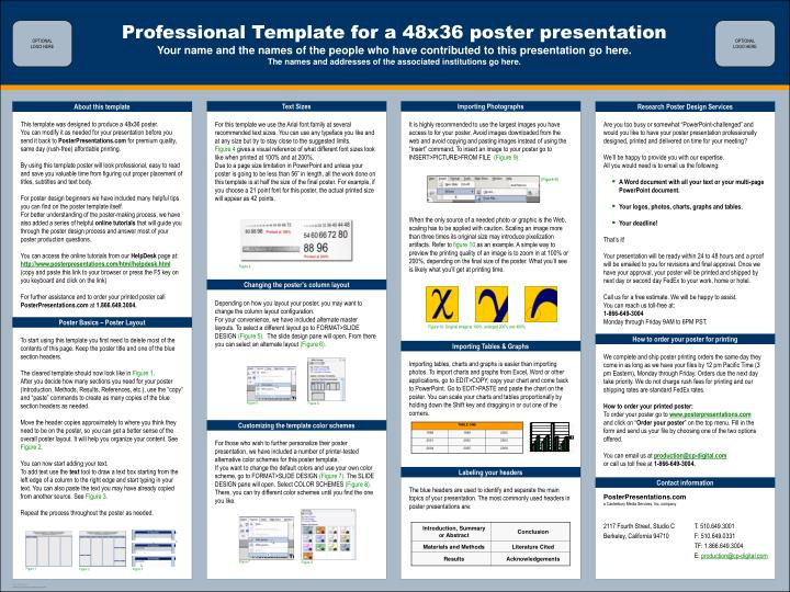 ppt - professional template for a 48x36 poster presentation, Poster Presentation Ppt Template, Presentation templates