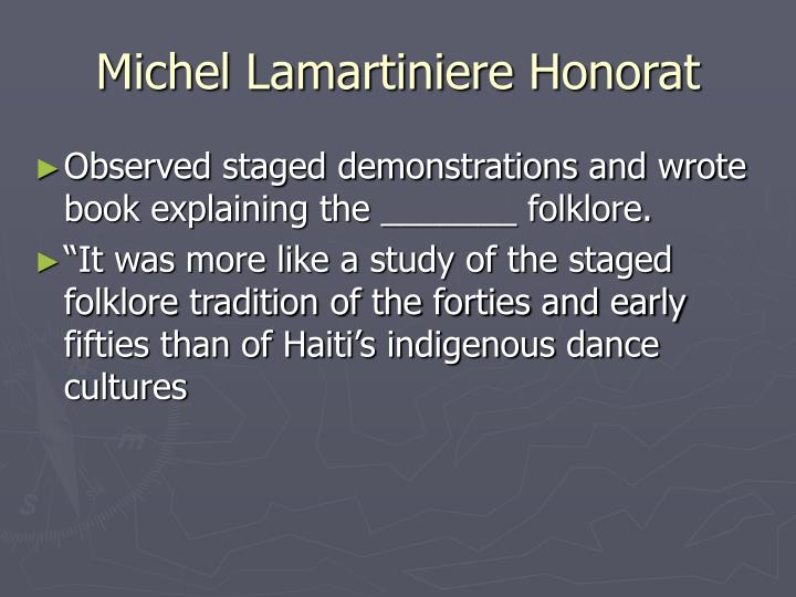 Michel Lamartiniere Honorat