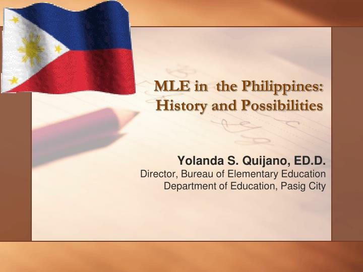 mle in the philippines history and possibilities n.