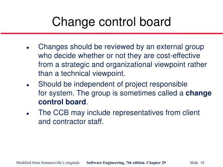 Change control board