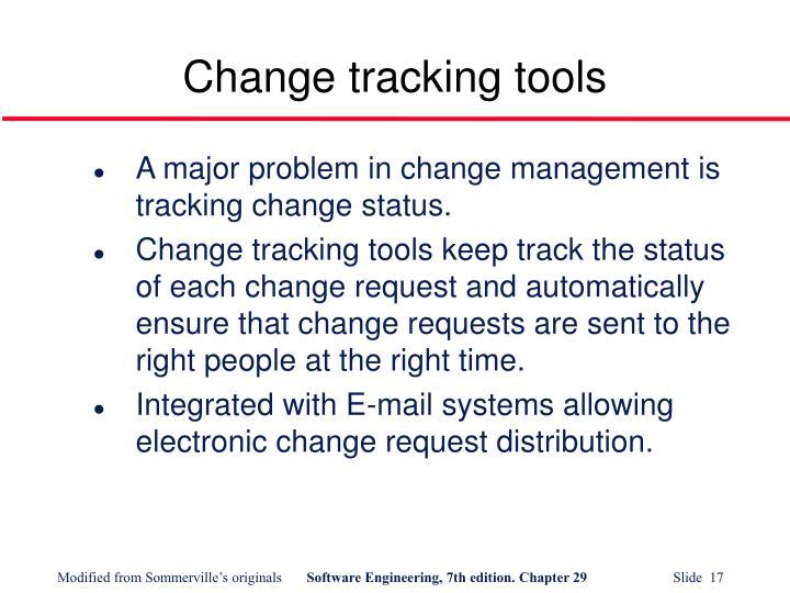 Change tracking tools