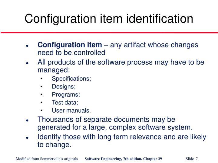 Configuration item identification