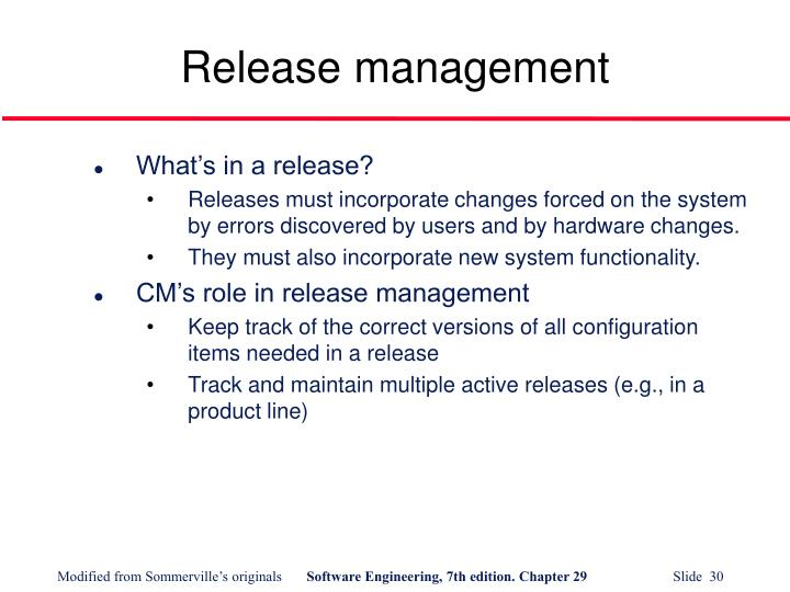 Release management