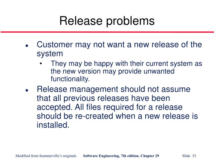 Release problems