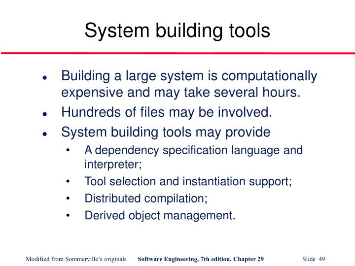 System building tools