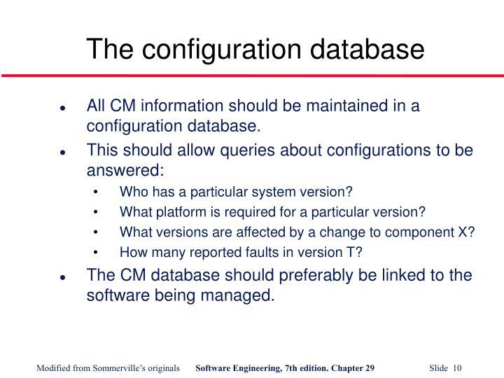 The configuration database