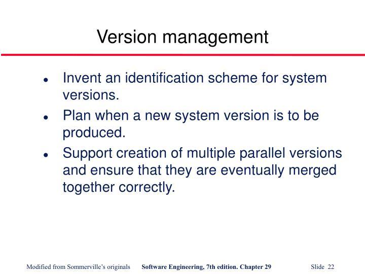 Version management