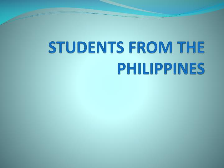 students from the philippines n.