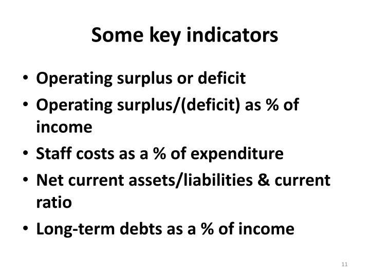 Some key indicators