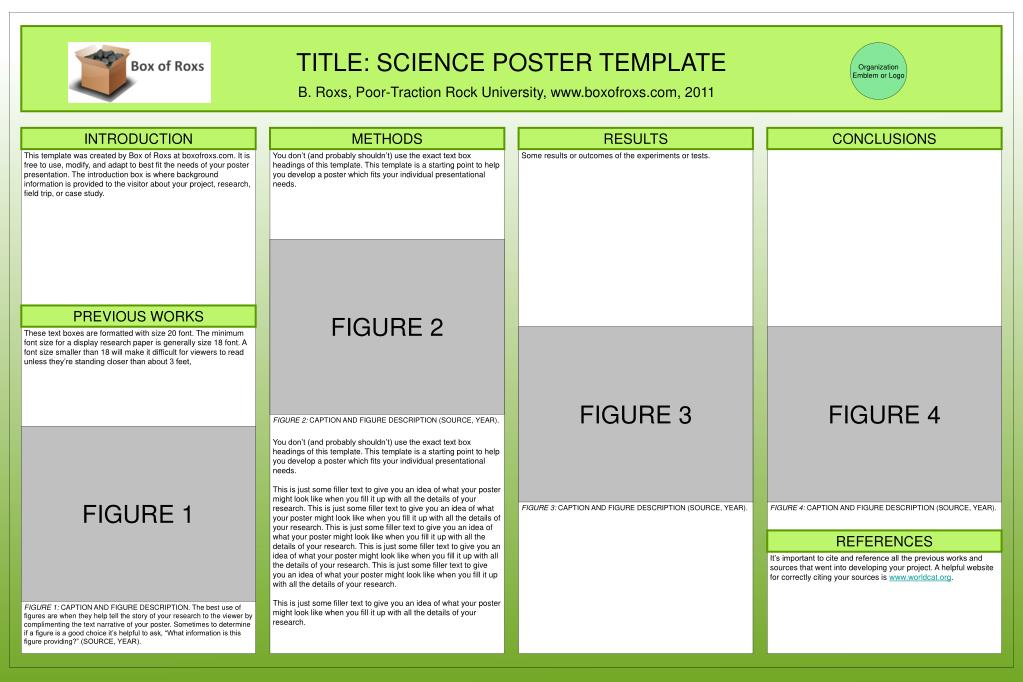 Ppt Title Science Poster Template Powerpoint Presentation