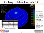 4 m long undulator case with filter