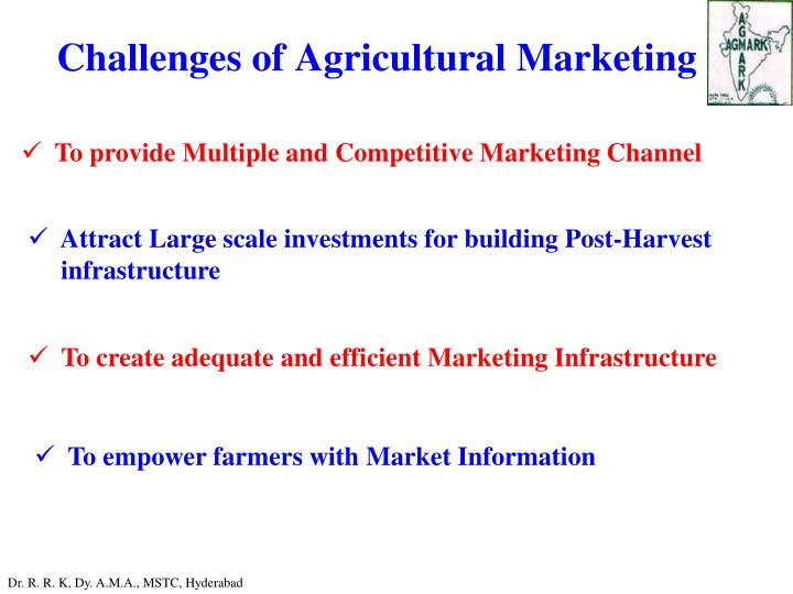 Challenges of Agricultural Marketing