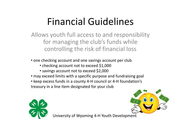 Financial guidelines