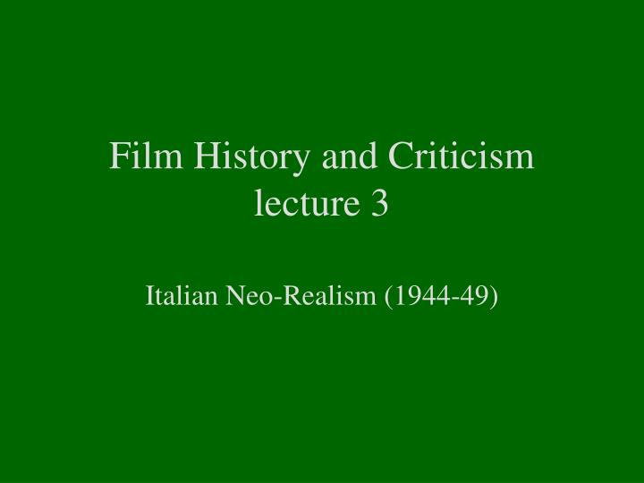 Ppt Film History And Criticism Lecture 3 Powerpoint Presentation Free Download Id 1778563