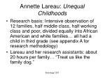 annette lareau unequal childhoods
