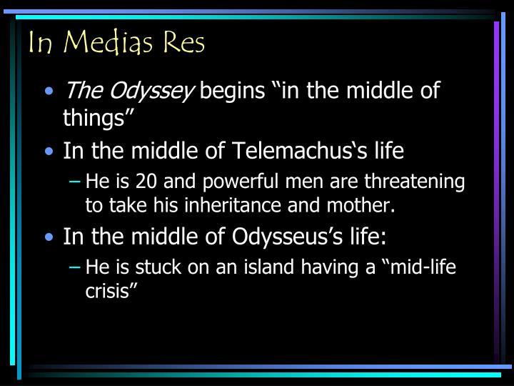 in medias res in the odyssey
