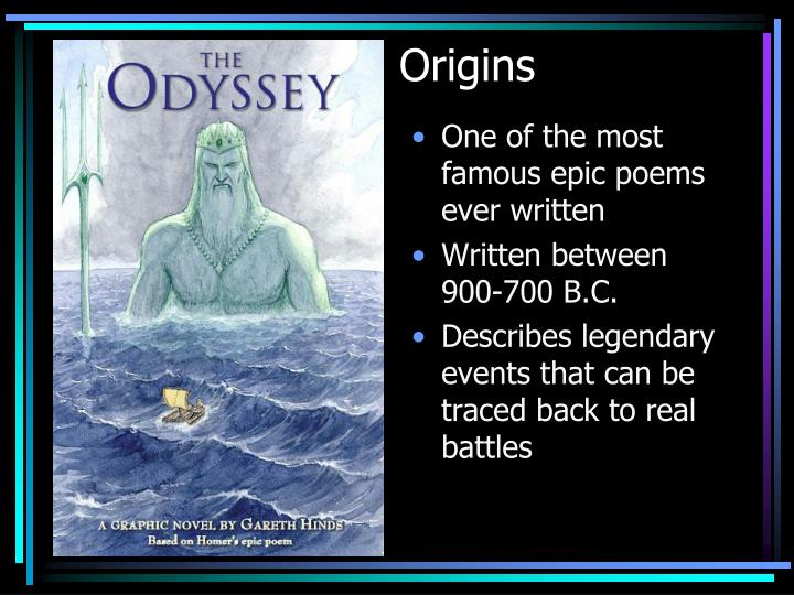 a comparison between movie and epic poem of the odyssey An epic poem, epic, epos, or epopee is a lengthy narrative poem, ordinarily involving a time beyond living memory in which occurred the extraordinary doings of the extraordinary men and women who.