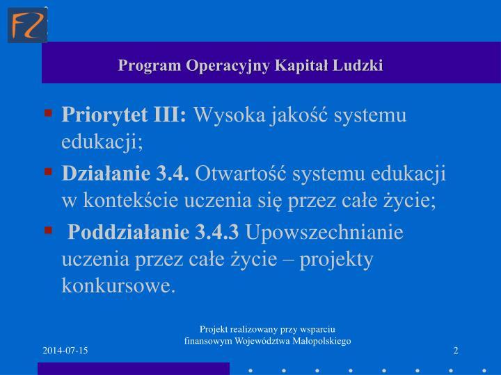 Program operacyjny kapita ludzki