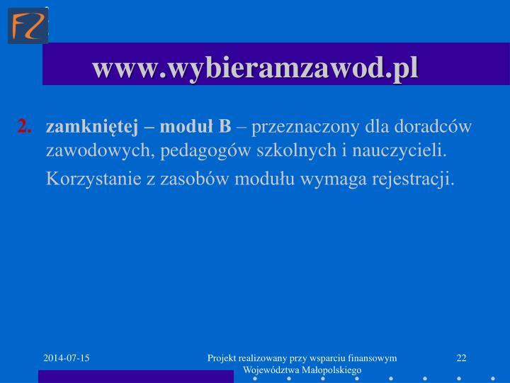 www.wybieramzawod.pl