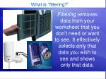 what is filtering