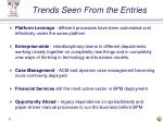 trends seen from the entries