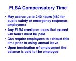 flsa compensatory time