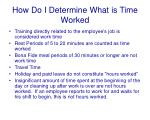 how do i determine what is time worked