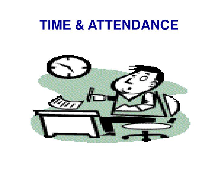 time attendance n.