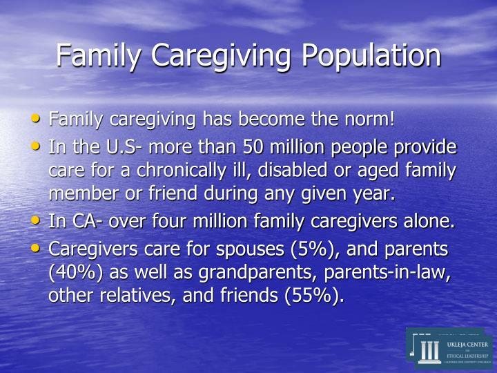 Family caregiving population