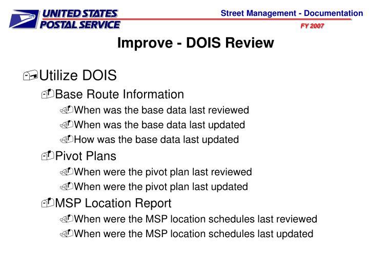 Improve - DOIS Review