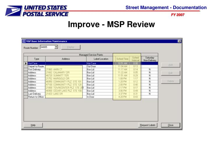 Improve - MSP Review