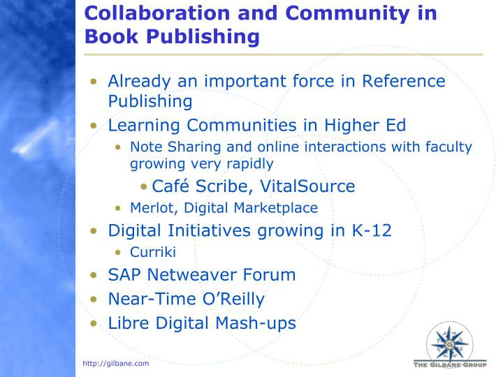 Collaboration and Community in Book Publishing