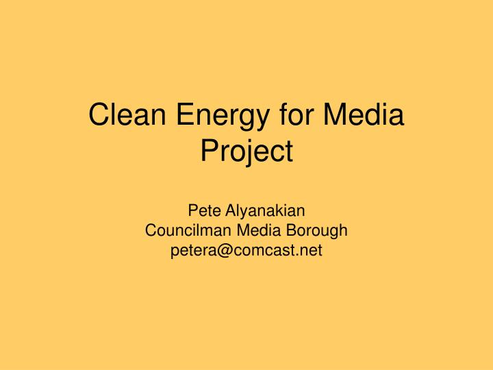 clean energy for media project