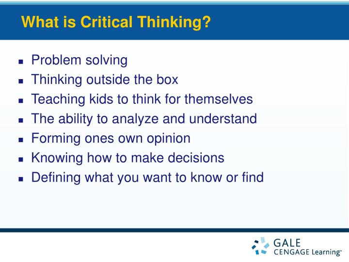 critical thinking skills for kids