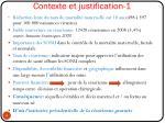contexte et justification 1