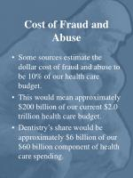 cost of fraud and abuse