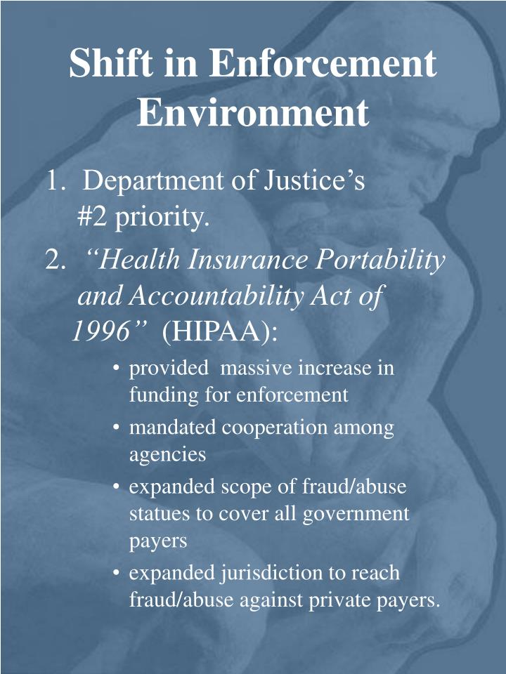Current components and implications of the health insurance portability andaccountability