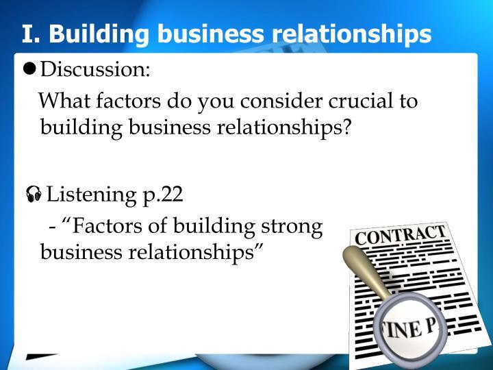 I building business relationships1